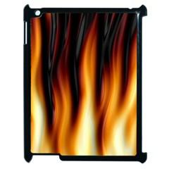 Dark Flame Pattern Apple Ipad 2 Case (black) by Nexatart