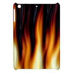 Dark Flame Pattern Apple Ipad Mini Hardshell Case by Nexatart