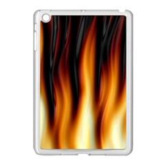 Dark Flame Pattern Apple Ipad Mini Case (white) by Nexatart