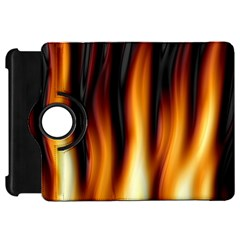 Dark Flame Pattern Kindle Fire Hd 7  by Nexatart