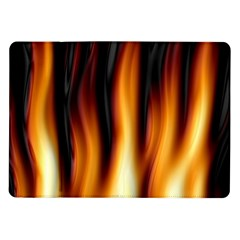Dark Flame Pattern Samsung Galaxy Tab 10 1  P7500 Flip Case