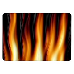 Dark Flame Pattern Samsung Galaxy Tab 8 9  P7300 Flip Case