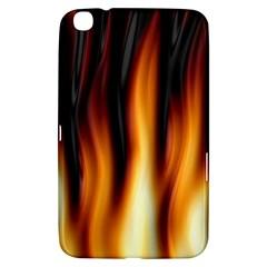 Dark Flame Pattern Samsung Galaxy Tab 3 (8 ) T3100 Hardshell Case