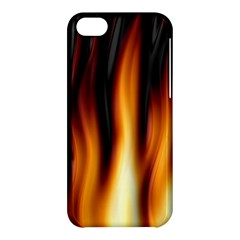 Dark Flame Pattern Apple Iphone 5c Hardshell Case by Nexatart