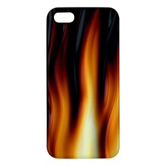 Dark Flame Pattern Iphone 5s/ Se Premium Hardshell Case by Nexatart