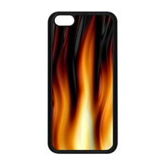 Dark Flame Pattern Apple Iphone 5c Seamless Case (black) by Nexatart
