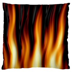 Dark Flame Pattern Standard Flano Cushion Case (one Side) by Nexatart
