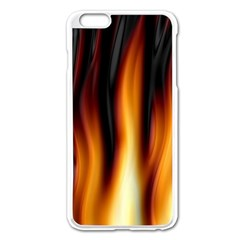 Dark Flame Pattern Apple Iphone 6 Plus/6s Plus Enamel White Case