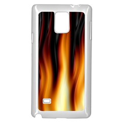 Dark Flame Pattern Samsung Galaxy Note 4 Case (white)