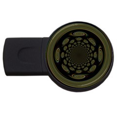 Dark Portal Fractal Esque Background Usb Flash Drive Round (2 Gb) by Nexatart