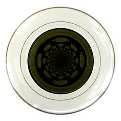 Dark Portal Fractal Esque Background Porcelain Plates by Nexatart