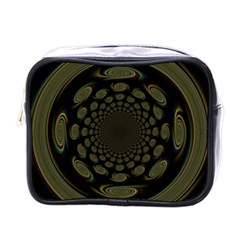 Dark Portal Fractal Esque Background Mini Toiletries Bags by Nexatart