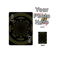Dark Portal Fractal Esque Background Playing Cards 54 (mini)  by Nexatart