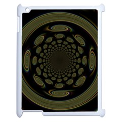 Dark Portal Fractal Esque Background Apple Ipad 2 Case (white) by Nexatart