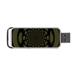 Dark Portal Fractal Esque Background Portable Usb Flash (two Sides) by Nexatart