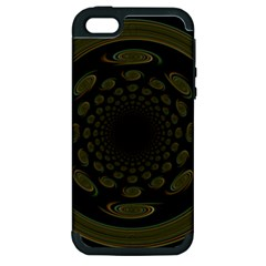 Dark Portal Fractal Esque Background Apple Iphone 5 Hardshell Case (pc+silicone)