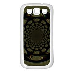 Dark Portal Fractal Esque Background Samsung Galaxy S3 Back Case (white) by Nexatart