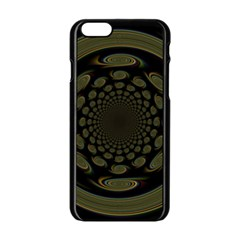 Dark Portal Fractal Esque Background Apple Iphone 6/6s Black Enamel Case by Nexatart