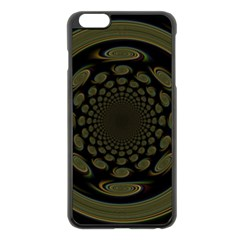 Dark Portal Fractal Esque Background Apple Iphone 6 Plus/6s Plus Black Enamel Case