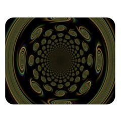 Dark Portal Fractal Esque Background Double Sided Flano Blanket (large)