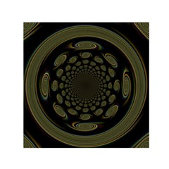 Dark Portal Fractal Esque Background Small Satin Scarf (square) by Nexatart