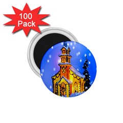 Winter Church 1 75  Magnets (100 Pack)