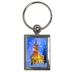 Winter Church Key Chains (rectangle)