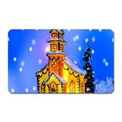Winter Church Magnet (rectangular) by Nexatart