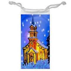 Winter Church Jewelry Bag by Nexatart