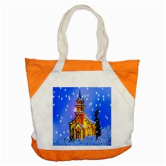 Winter Church Accent Tote Bag by Nexatart