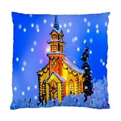 Winter Church Standard Cushion Case (two Sides)