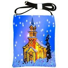 Winter Church Shoulder Sling Bags by Nexatart