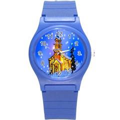 Winter Church Round Plastic Sport Watch (s) by Nexatart