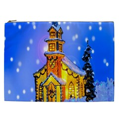Winter Church Cosmetic Bag (xxl)  by Nexatart