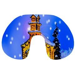 Winter Church Travel Neck Pillows by Nexatart