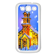 Winter Church Samsung Galaxy S3 Back Case (white)