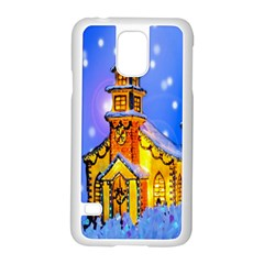 Winter Church Samsung Galaxy S5 Case (white) by Nexatart