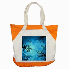 Blue Night Portrait Background Accent Tote Bag