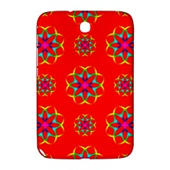 Rainbow Colors Geometric Circles Seamless Pattern On Red Background Samsung Galaxy Note 8 0 N5100 Hardshell Case  by Nexatart