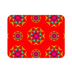 Rainbow Colors Geometric Circles Seamless Pattern On Red Background Double Sided Flano Blanket (mini)  by Nexatart