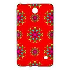 Rainbow Colors Geometric Circles Seamless Pattern On Red Background Samsung Galaxy Tab 4 (8 ) Hardshell Case  by Nexatart