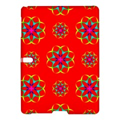 Rainbow Colors Geometric Circles Seamless Pattern On Red Background Samsung Galaxy Tab S (10 5 ) Hardshell Case