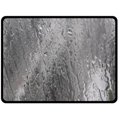Water Drops Double Sided Fleece Blanket (large)  by Nexatart