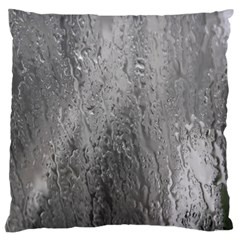 Water Drops Large Flano Cushion Case (two Sides) by Nexatart