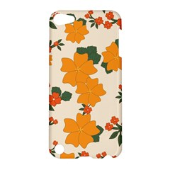 Vintage Floral Wallpaper Background In Shades Of Orange Apple Ipod Touch 5 Hardshell Case by Nexatart