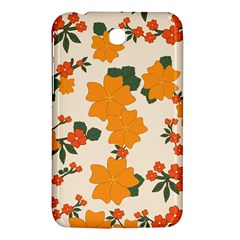 Vintage Floral Wallpaper Background In Shades Of Orange Samsung Galaxy Tab 3 (7 ) P3200 Hardshell Case
