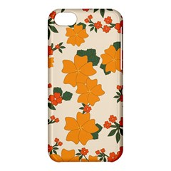 Vintage Floral Wallpaper Background In Shades Of Orange Apple Iphone 5c Hardshell Case