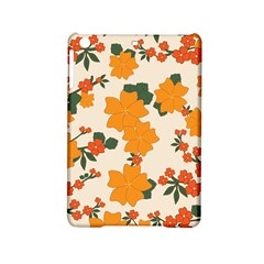 Vintage Floral Wallpaper Background In Shades Of Orange Ipad Mini 2 Hardshell Cases by Nexatart