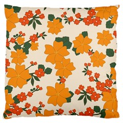 Vintage Floral Wallpaper Background In Shades Of Orange Standard Flano Cushion Case (two Sides) by Nexatart