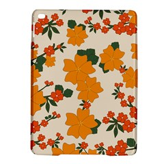 Vintage Floral Wallpaper Background In Shades Of Orange Ipad Air 2 Hardshell Cases by Nexatart